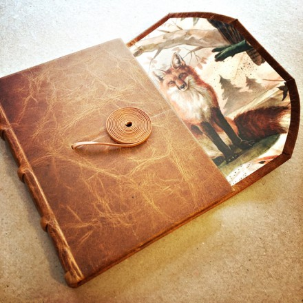 JOURNAL @- FULL LEATHER BOUND WITH TIE