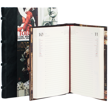 DIARY @- HALF LEATHER BOUND