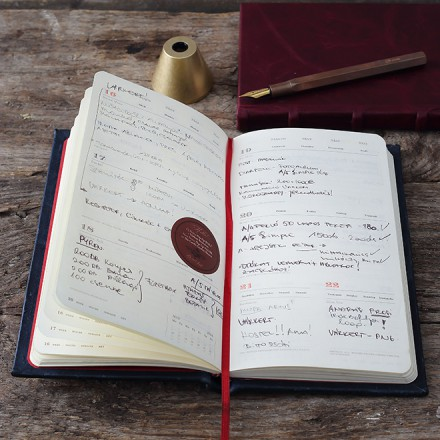 DIARY @- FULL LEATHER BOUND