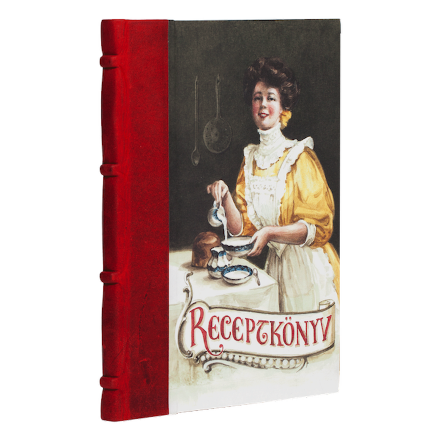 RECIPE BOOK @- HALF LEATHER BOUND