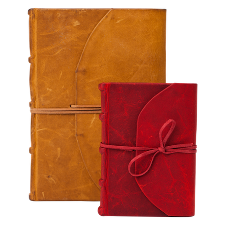 Journal - Full Leather Bound With Tie
